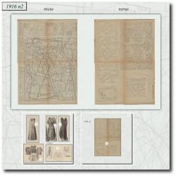 Sewing patterns La Mode Illustrée 1916 N°02