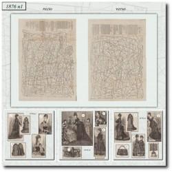 Patrons de La Mode Illustrée 1876 N°01