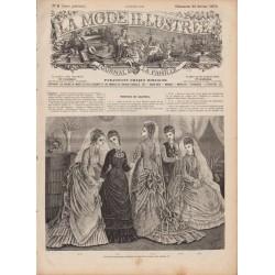 Complete magazine La Mode Illustrée 1876 N°08