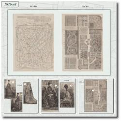 Patrons de La Mode Illustrée 1876 N°08