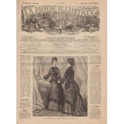 Complete magazine La Mode Illustrée 1876 N°10