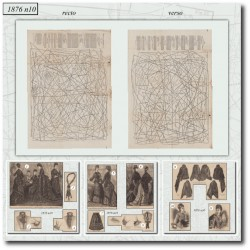Patrons de La Mode Illustrée 1876 N°10