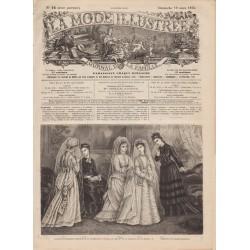Complete magazine La Mode Illustrée 1876 N°12