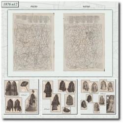 Patrons de La Mode Illustrée 1876 N°12