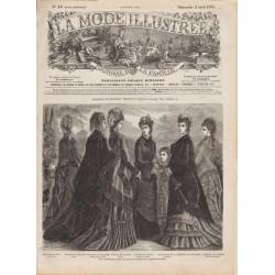 Complete magazine La Mode Illustrée 1876 N°14