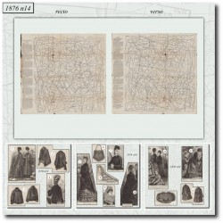 Patrons de La Mode Illustrée 1876 N°14