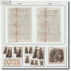 Patrons de La Mode Illustrée 1876 N°17
