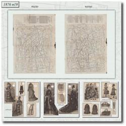 Sewing patterns La Mode Illustrée 1876 N°19