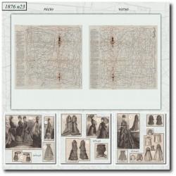 Patrons de La Mode Illustrée 1876 N°23
