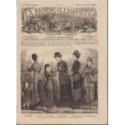 Complete magazine La Mode Illustrée 1878 N°36