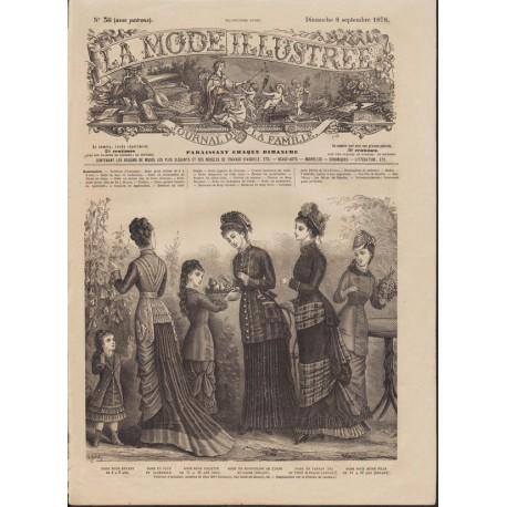 Revue complète de La Mode Illustrée 1878 N°36