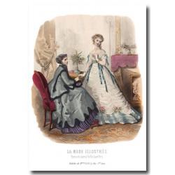 Gravure La Mode Illustrée 1867 3
