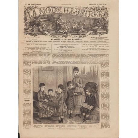 Complete magazine La Mode Illustrée 1878 N°22