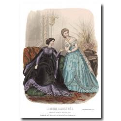 Gravure La Mode Illustrée 1867 10