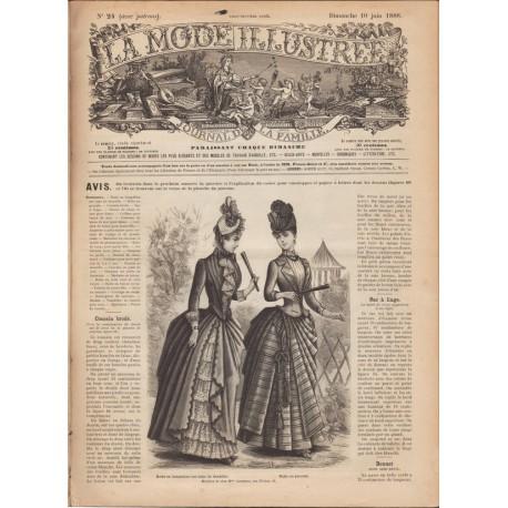 Complete magazine La Mode Illustrée 1888 N°24