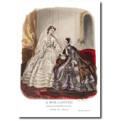 Gravure La Mode Illustrée 1863 6