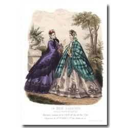Gravure La Mode Illustrée 1863 41