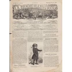 Complete magazine La Mode Illustrée 1887 N°13