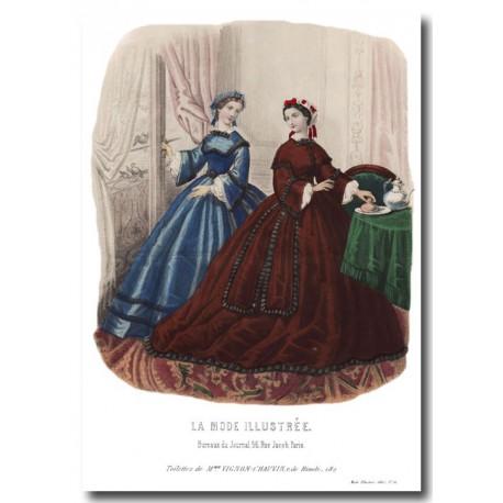 fashion plate La Mode Illustrée 1862 6