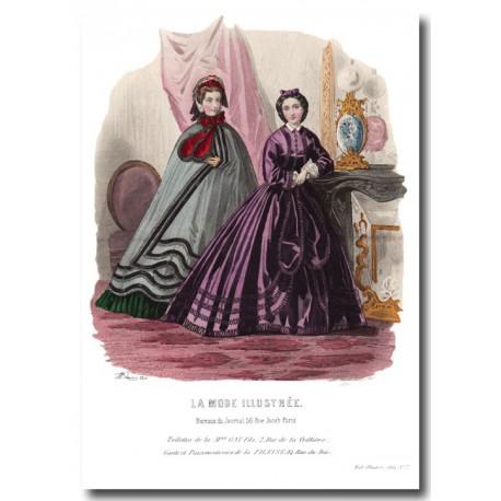 fashion plate La Mode Illustrée 1862 7