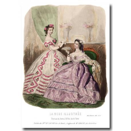 fashion plate La Mode Illustrée 1862 8