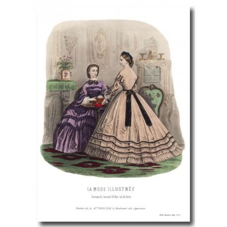 fashion plate La Mode Illustrée 1862 9