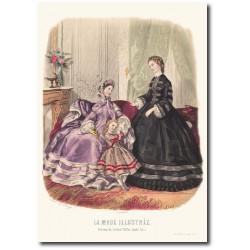 Gravure La Mode Illustrée 1862 18