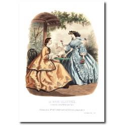 Gravure La Mode Illustrée 1862 33