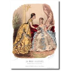 Gravure La Mode Illustrée 1872 9