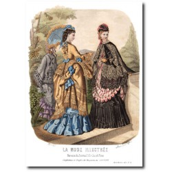 Gravure La Mode Illustrée 1872 22