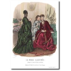 Gravure La Mode Illustrée 1872 5