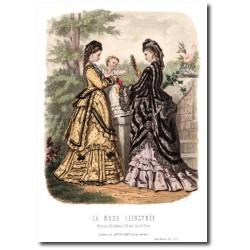 Gravure La Mode Illustrée 1872 27