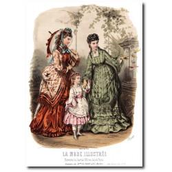 Gravure La Mode Illustrée 1872 31