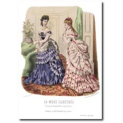 Gravure La Mode Illustrée 1873 4