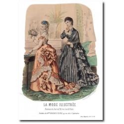 Gravure La Mode Illustrée 1873 20