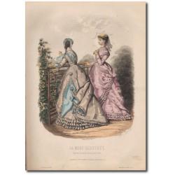 Gravure de La Mode Illustrée 1868 27