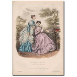Gravure de La Mode Illustrée 1868 29