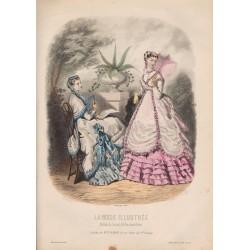 Gravure de La Mode Illustrée 1868 30