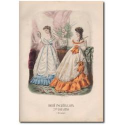 Gravure de La Mode Illustrée 1868 05