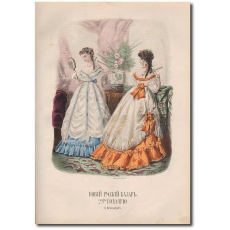 Gravure de La Mode Illustrée 1868