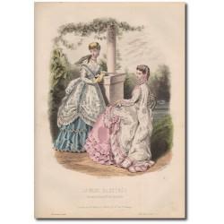 Gravure de La Mode Illustrée 1868 33