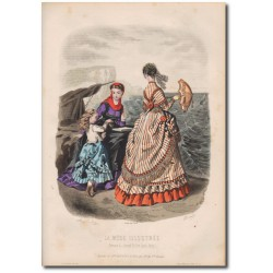 Gravure de La Mode Illustrée 1868 34