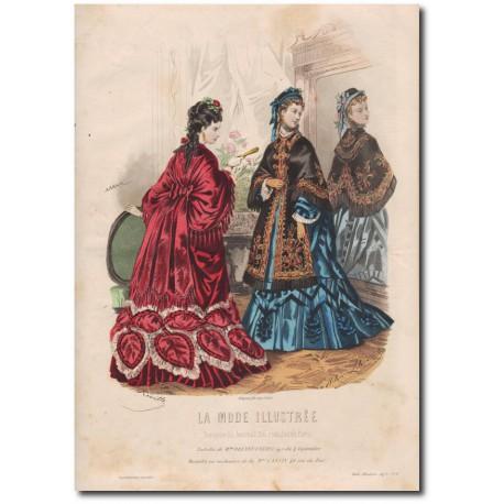 Gravure de La Mode Illustrée 1873 09
