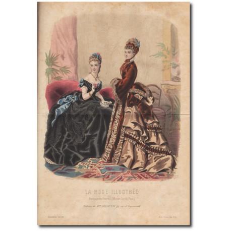 Gravure de La Mode Illustrée 1874 09