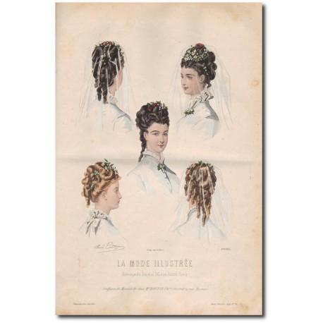 Gravure de La Mode Illustrée 1874 16