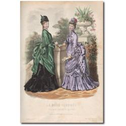 Gravure de La Mode Illustrée 1874 20