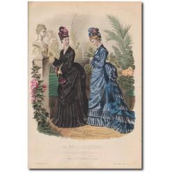 Gravure de La Mode Illustrée 1874 25