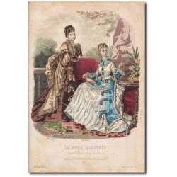 Gravure de La Mode Illustrée 1874 33