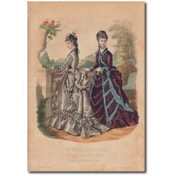Gravure de La Mode Illustrée 1874 40