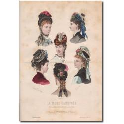 Gravure de La Mode Illustrée 1874 42